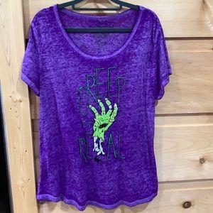 EUC Rocker Girl XXL purple creep t shirt